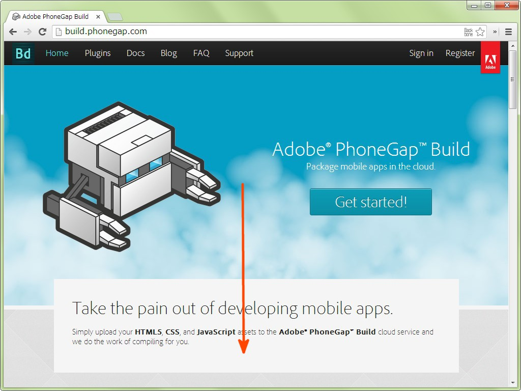 Adobe PhoneGap Build Top