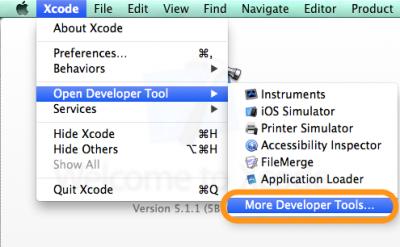03_Xcode More Developer Tools